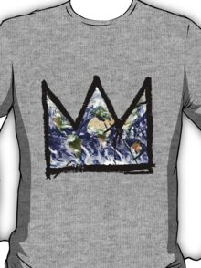 "Basquiat, ""King of The world"" T-Shirt"