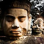 Buddhist Statues: Deva at Angkor, Cambodia by thewaxmuseum