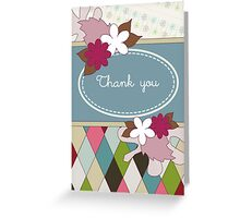 Thank You Scrapbook Page Greeting Card