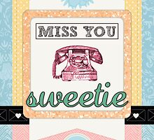 Scrapbook-Themed Miss You Sweetie by RumourHasIt