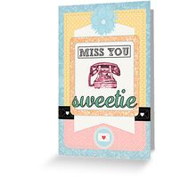 Scrapbook-Themed Miss You Sweetie Greeting Card