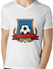 Football Club Emblem Mens V-Neck T-Shirt