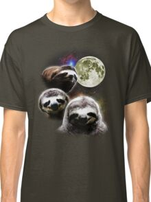 Funny Space Sloths  Classic T-Shirt