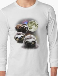 Funny Space Sloths  Long Sleeve T-Shirt