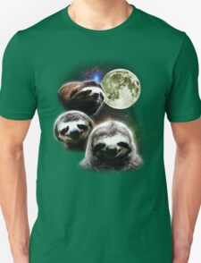 Funny Space Sloths  T-Shirt