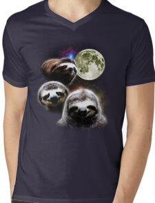 Funny Space Sloths  Mens V-Neck T-Shirt