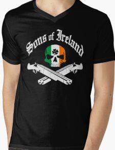 Sons of Ireland (Vintage Distressed Design) Mens V-Neck T-Shirt