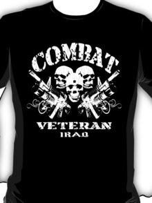 Combat Veteran IRAQ (Vintage Distressed Design) T-Shirt