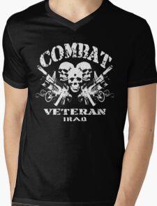 Combat Veteran IRAQ (Vintage Distressed Design) Mens V-Neck T-Shirt