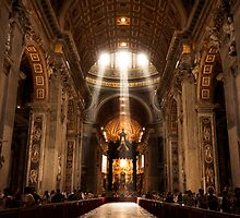 Rays of Light: St. Peter's Basilica, Vatican by thewaxmuseum