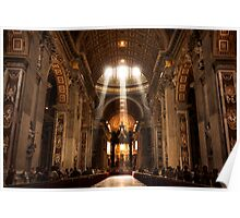 Rays of Light: St. Peter's Basilica, Vatican Poster