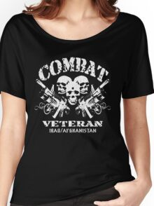Combat Veteran Iraq and Afghanistan (Vintage Distressed) Women's Relaxed Fit T-Shirt