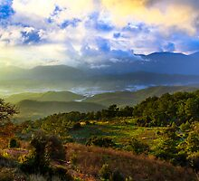 Sunset Valley: Mountains on the Mediterranean, Turkey by thewaxmuseum