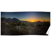 The Stirling Ranges Sunset Poster