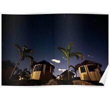 Stars & Huts: Caribbean Night Sky, St. Maarten Poster