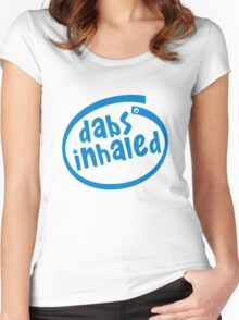 Dabs Inhaled Women's Fitted Scoop T-Shirt