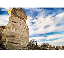 Forgotten Face: Hiking in Cappadocia, Turkey Photographic Print