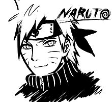 【1500+ views】NARUTO: Naruto T-shirt in Black by Ruo7in