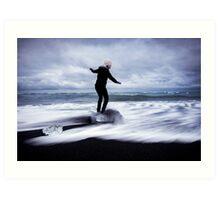 Surfer's Paradise: Glaciers at Joksularon, Iceland Art Print