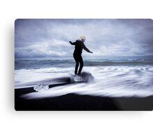 Surfer's Paradise: Glaciers at Joksularon, Iceland Metal Print