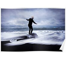 Surfer's Paradise: Glaciers at Joksularon, Iceland Poster