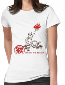 Fire Monkey Womens Fitted T-Shirt