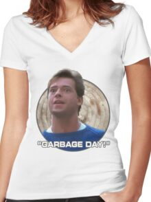 Garbage Day! Women's Fitted V-Neck T-Shirt
