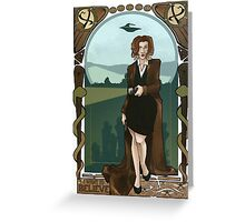 Dana Scully Art Nerdveau Greeting Card