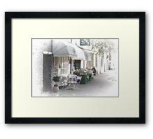 Street Cafe and grocer Framed Print