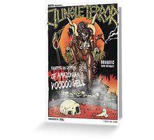 Jungle Terror Greeting Card