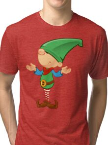 Elf Character - Confused Tri-blend T-Shirt