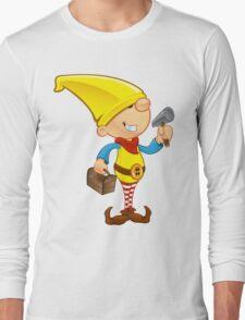 Elf Character - Hammer & Toolbox Long Sleeve T-Shirt