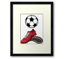 Boots and ball Framed Print