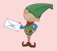Elf Character - Holding A Letter One Piece - Long Sleeve