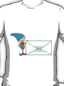 Elf Character - Holding Big Letter T-Shirt