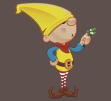 Elf Character - Holding Mistletoe Kids Clothes