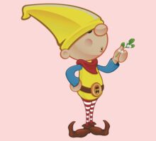 Elf Character - Holding Mistletoe One Piece - Long Sleeve