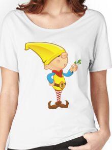 Elf Character - Holding Mistletoe Women's Relaxed Fit T-Shirt