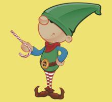 Elf Character - Pointing With Candy Baby Tee