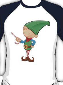 Elf Character - Pointing With Candy T-Shirt