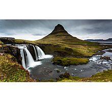 Epic Adventure: Dawn at Kirkjufellfoss, Iceland Photographic Print
