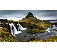 Epic Adventure: Dawn at Kirkjufellfoss, Iceland Photographic Print