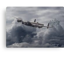 Avro Lancaster - Bomber Command Remembrance Canvas Print