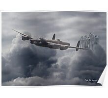 Avro Lancaster - Bomber Command Remembrance Poster
