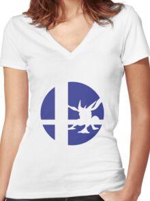 Greninja - Super Smash Bros. Women's Fitted V-Neck T-Shirt