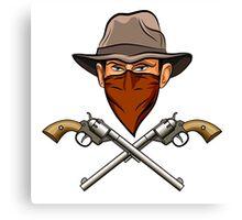 Bandit wit a Guns Canvas Print