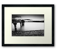 The Cropston Dash BW Framed Print