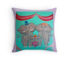 Little Elephant Queen Throw Pillow