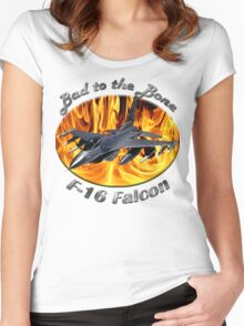F-16 Bad To The Bone Women's Fitted Scoop T-Shirt