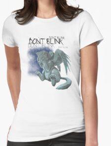 Weeping kitten - Dark Font Womens Fitted T-Shirt